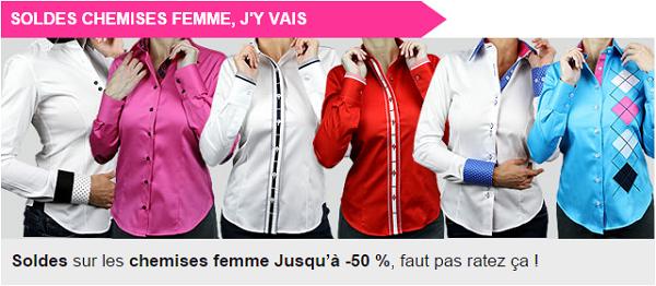 Soldes Chemises femme